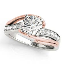 Two Tone Round Diamond engagement ring