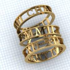 custom stackable roman numeral mothers rings